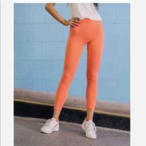 Size 4 Brilliant Coral Moon Leggings